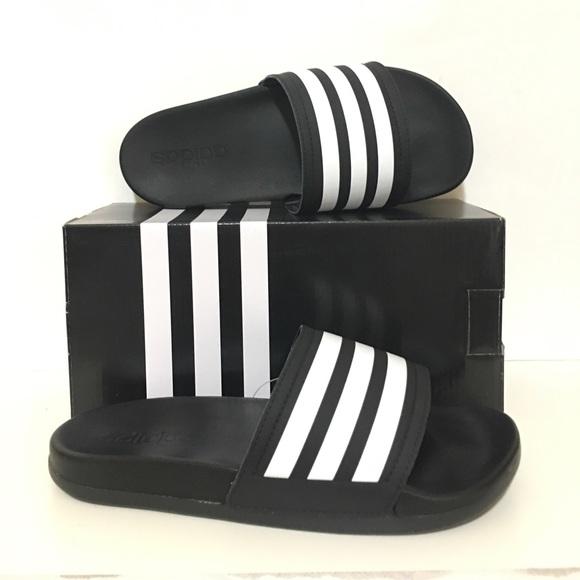 Adidas Mens Adilette Cloudfoam Plus Stripes Slides 40499d5f6